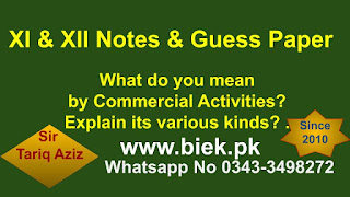 What do you mean by Commercial Activities Explain its various kinds