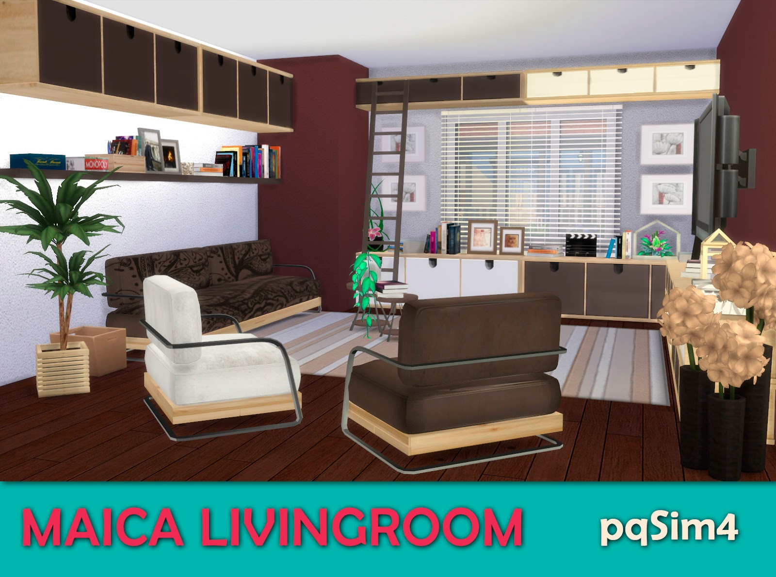 Muebles Sims 4 Living Room Maica Sims 4 Custom Content