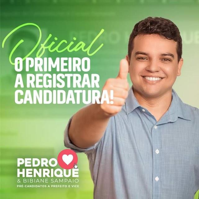 Candidato à reeleição, Pedro Henrique é o primeiro a registrar candidatura em Santana do Cariri