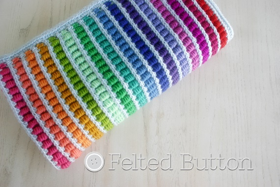 Felted Button Colorful Crochet Patterns Math Lovers Introducing