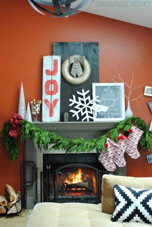 decoración de salas navideñas