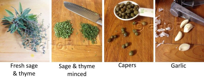 Sage Thyme Capers and Garlic