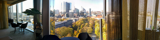 View from Hilton Tallinn Park Executive Lounge