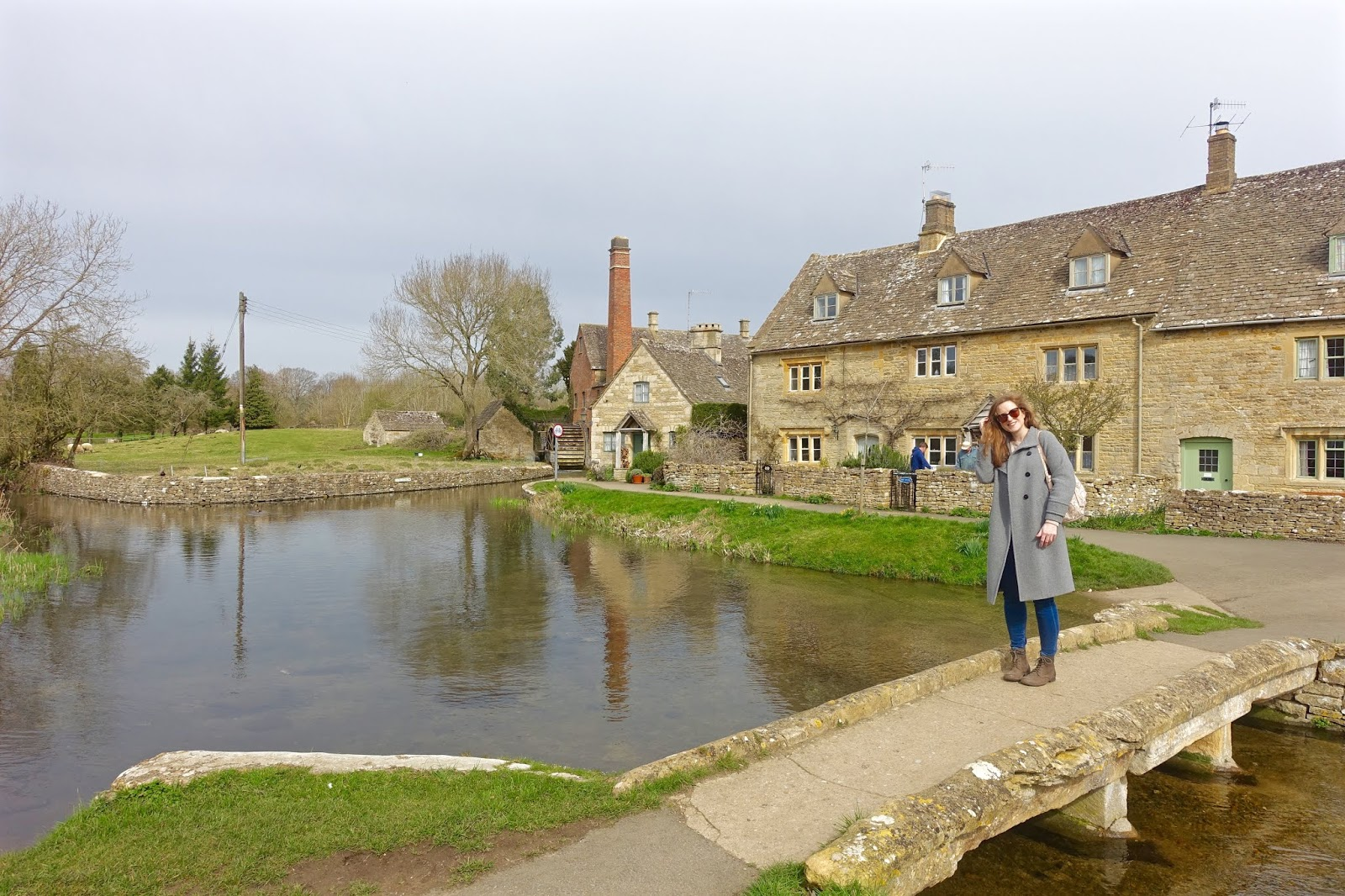 Lower Slaughter honey and limestone cottages