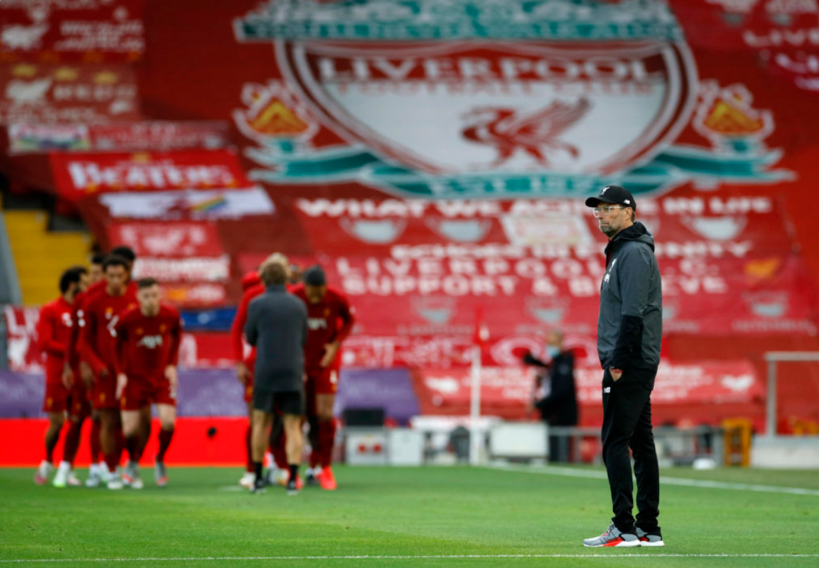 Jurgen Klopp at the home of the reigning champions: Anfield