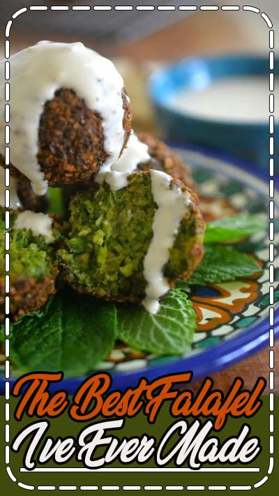 The Best Falafel ~ this vegan appetizer or main course is crispy on the outside, and brilliant emerald green on the inside!