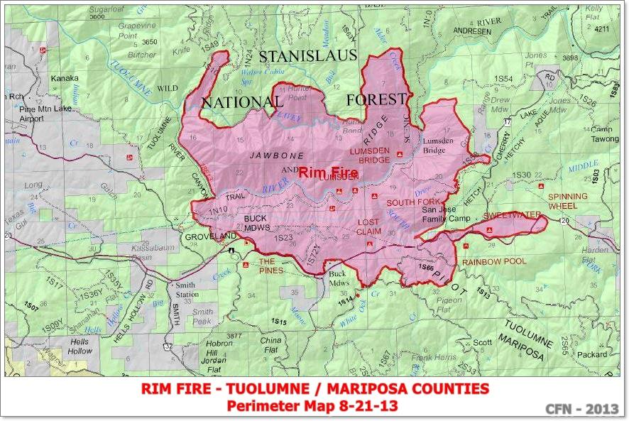 CFN   CALIFORNIA FIRE NEWS   CAL FIRE NEWS : CA STF Rim Fire