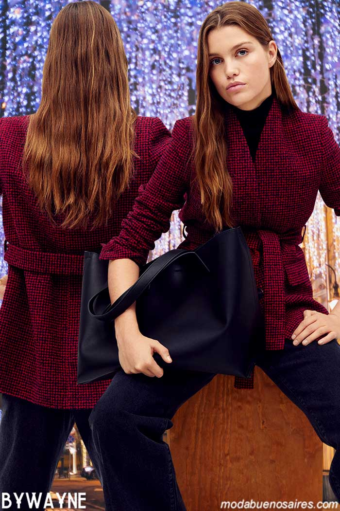 Ropa de moda mujer 2021 invierno tapado y pantalon Mango mujer