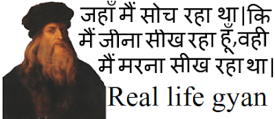 Leonardo da Vinci quotes in hindi