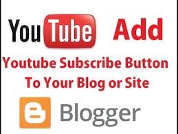 How to put YouTube Subscribe to your blogger in Easy Way