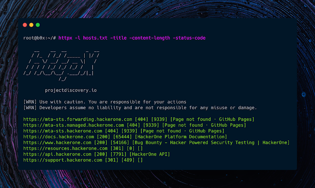 Httpx - A Fast And Multi-Purpose HTTP Toolkit Allows To Run Multiple Probers Using Retryablehttp Library, It Is Designed To Maintain The Result Reliability With Increased Threads