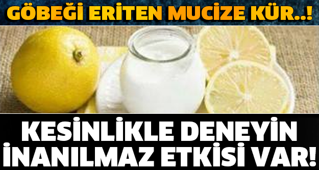 Dr. İbrahim Saraçoğlu Yoğurt ve Limon İle Zayıflama Kürü
