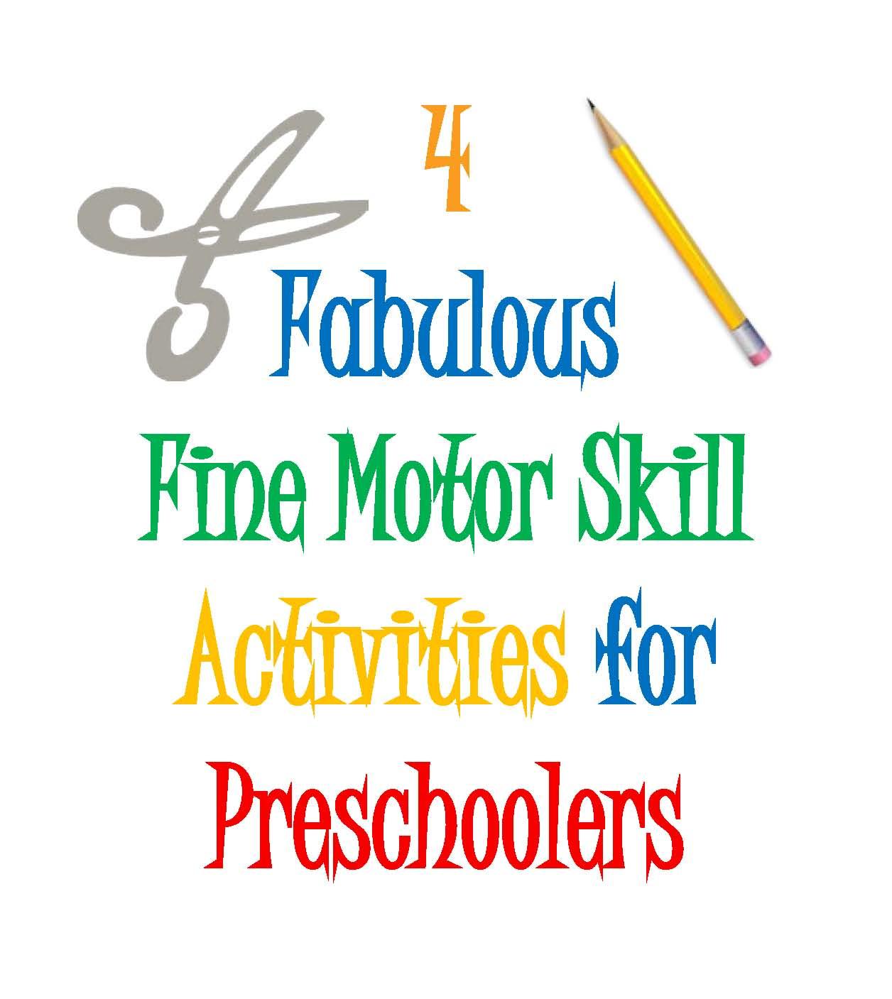 Designing Life Four Fabulous Fine Motor Skill Activities