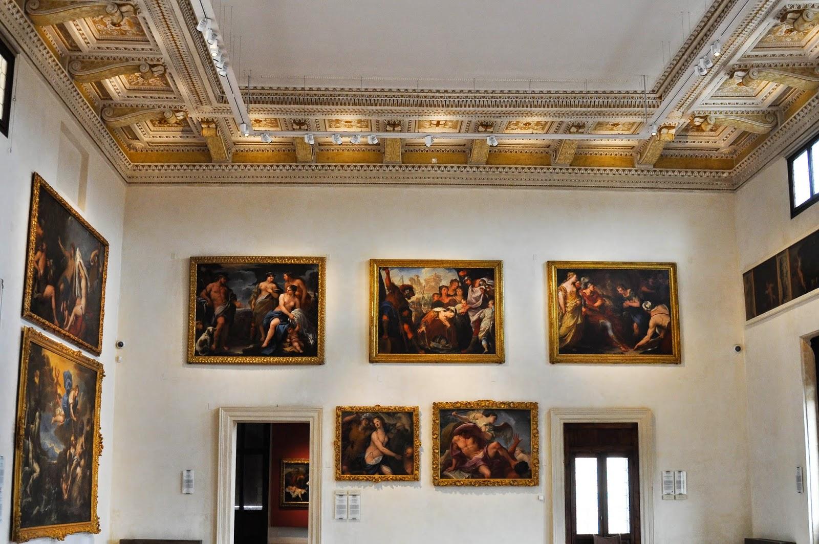 view main room Civic Art Gallery Palazzo Chiericati Vicenza Italy