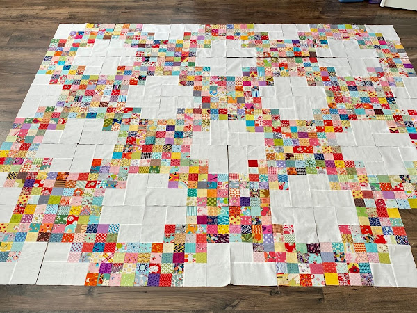 Twirling at the Disco Quilt {Progress}