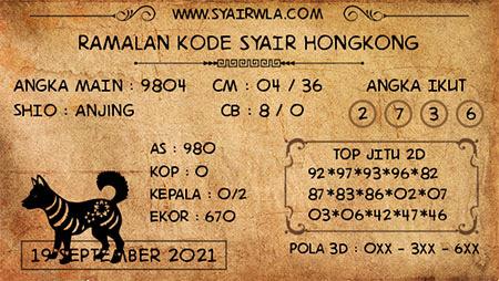 Ramalan HK Malam Ini 19-Sep-2021