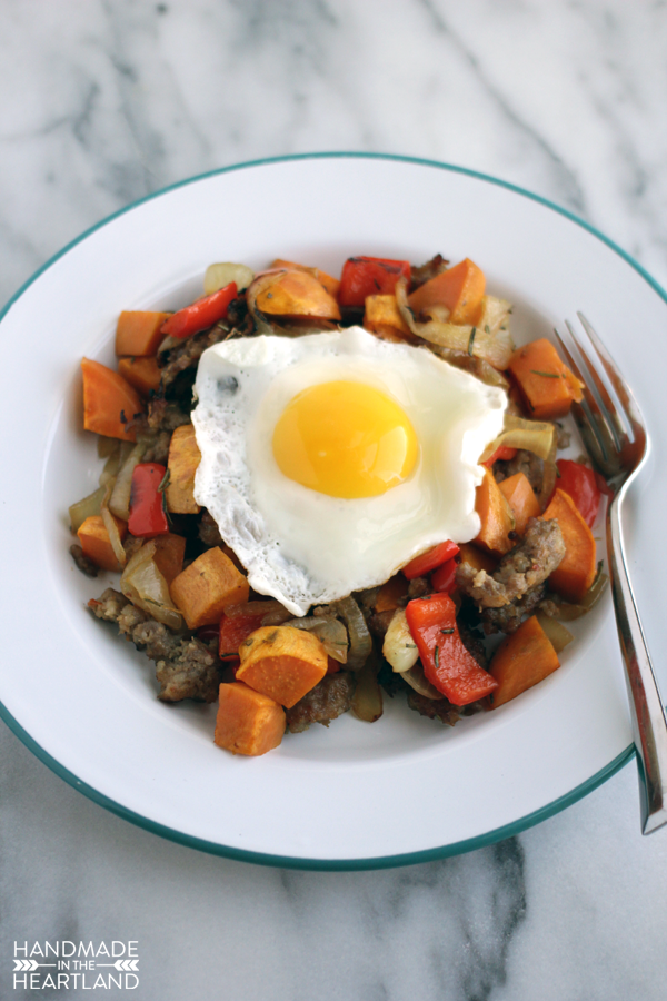 A breakfast favorite, this sweet potato & sausage breakfast hash will wow paleo and non paleo fans.
