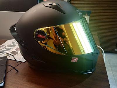 Helm Snail FFS1 Revo Gold , Review helm dibawah 1 jutaan