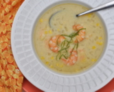 Sweet-Corn Soup with Shrimp