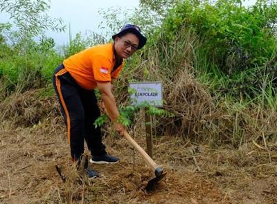 Dirpolairud Polda Jambi Ikut Laksanakan Kegiatan Go Green Di SPN Polda Jambi