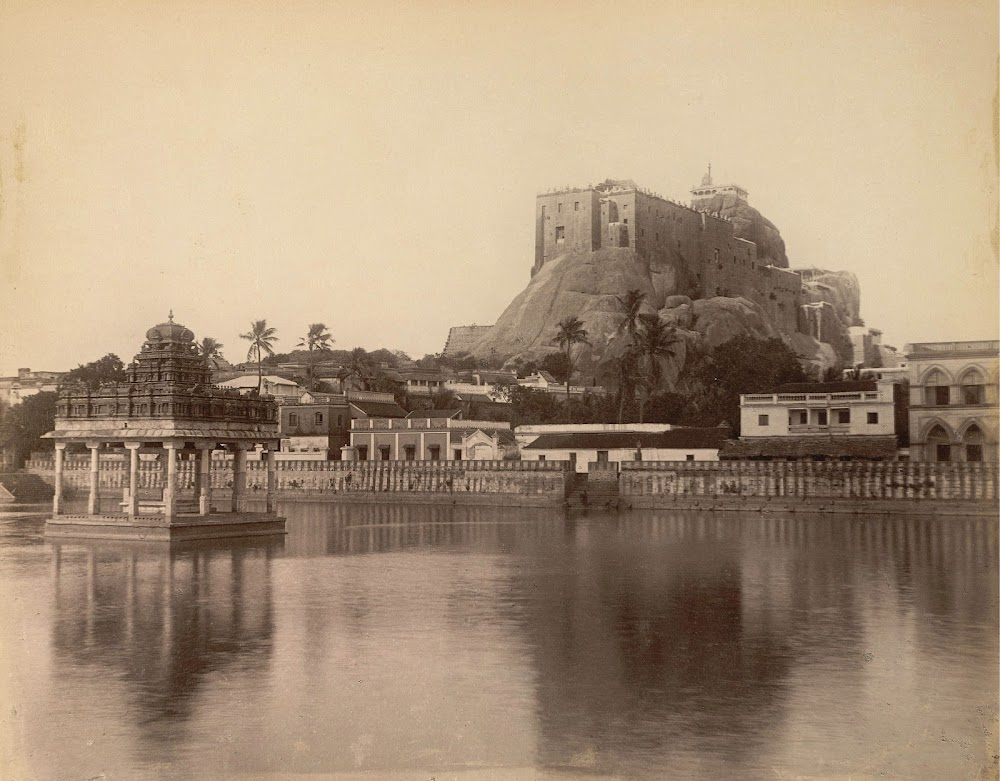 Rock Fort Temple Complex in Tiruchirapalli, Tamil Nadu 1895