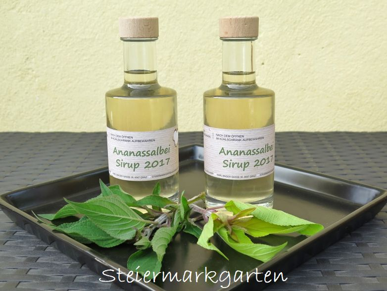 Ananassalbei-Sirup-Steiermarkgarten