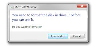 Cara mudah Memperbaiki Flashdisk yang tidak bisa diFormat