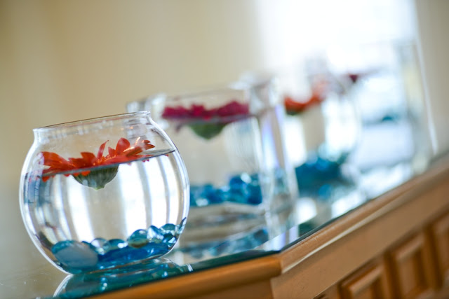 Walt Disney World Wedding - Fishbowl and Flower Decor