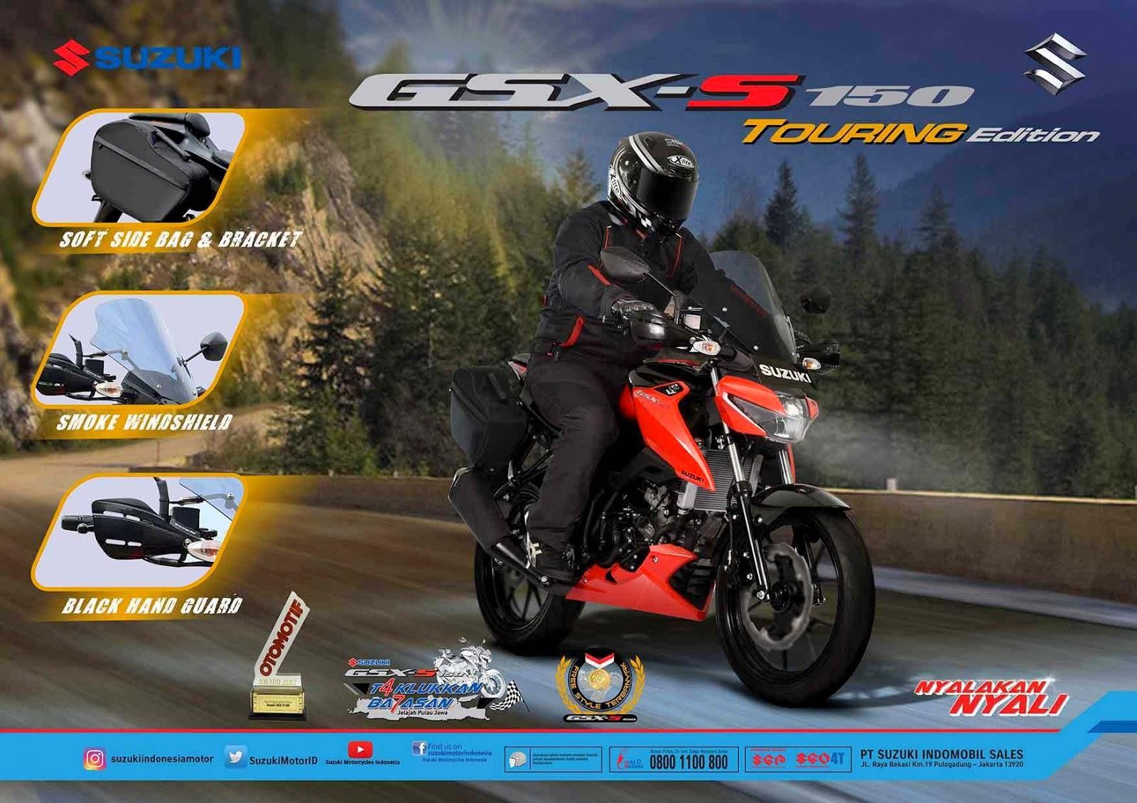 Nih penampakan GSX-S150 versi touring yang dirilis Suzuki Indonesia di PRJ 2017
