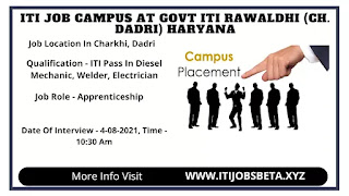 ITI Campus Interview In Haryana