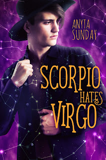 romance novel covers, M/M Romance, Scorpio Hates Virgo by Anyta Sunday