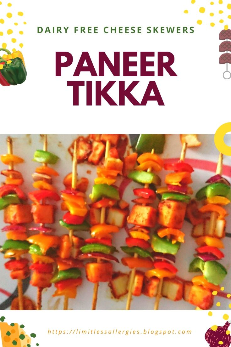 pinning image for Paneer Tikka Skewers