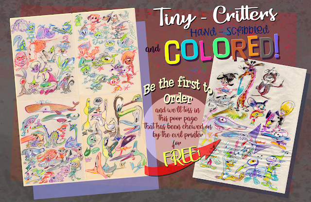 Own a page of colored doodles.