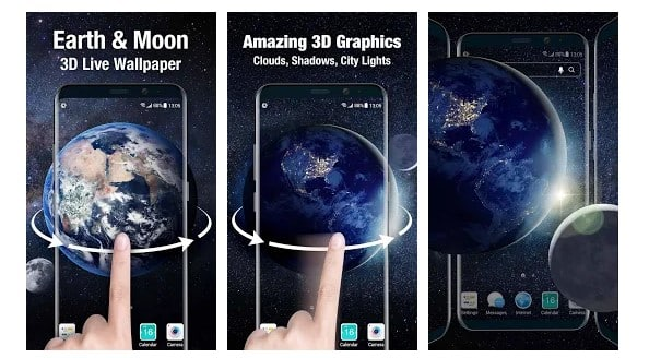 Live Wallpaper Earth & Moon