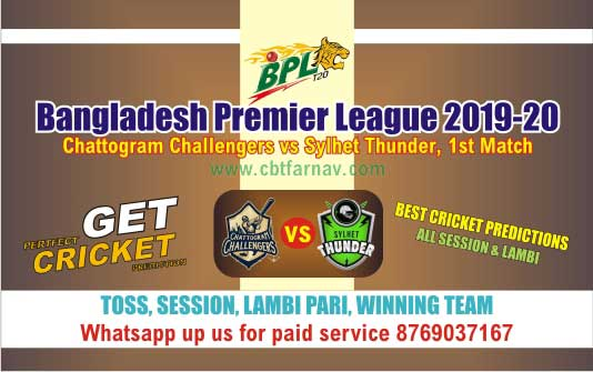 Sylhey vs Chattogram 1st Match BPL T20 Today Match Prediction Reports