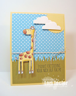 Thanks for Sticking Your Neck Out card-designed by Lori Tecler/Inking Aloud-stamps from My Favorite Things