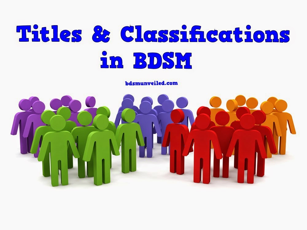 BDSM Titles and Classifications
