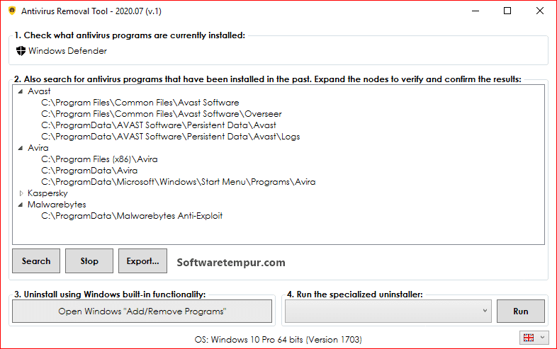 Windows antivirus removal tool portable download