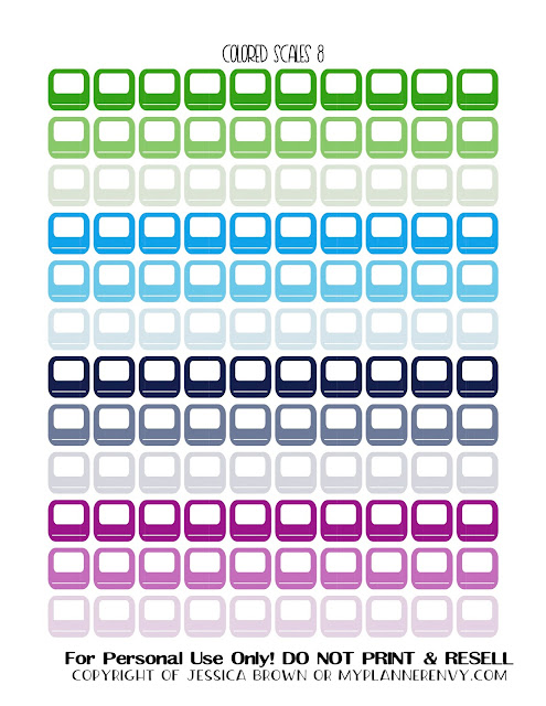 Free Printable Colored Bathroom Scales 8 from myplannerenvy.com