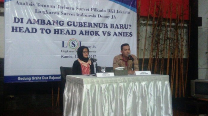 Survey LSI Denny JA: Jakarta Akan Punya Gubernur Baru