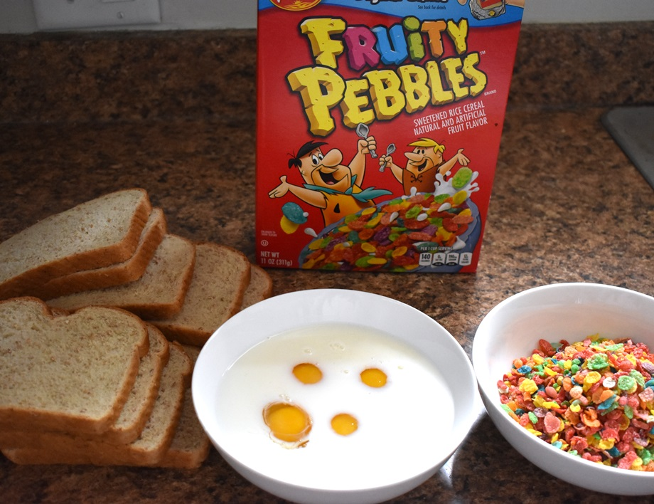 ingredients for fruity pebbles french toast