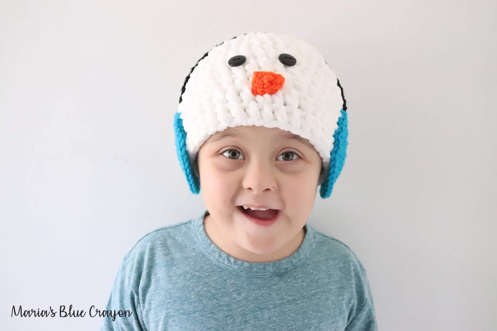 ccc777263 Snowman with Earmuffs Crochet Hat - Free Crochet Pattern for All ...