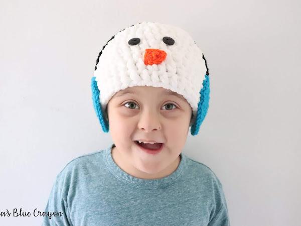 Snowman with Earmuffs Crochet Hat - Free Crochet Pattern for All Sizes