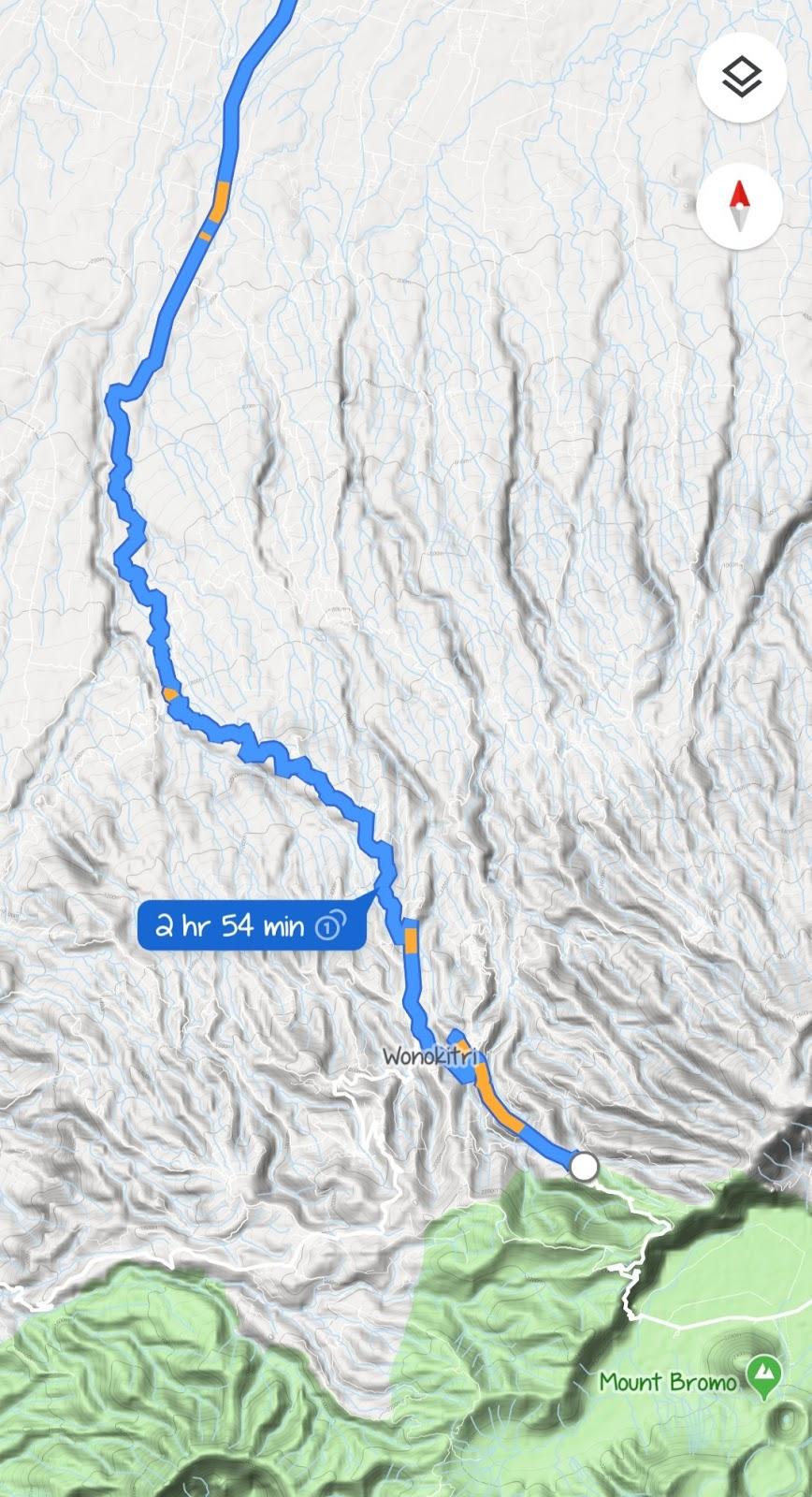 Rute atau Jalur ke Bromo