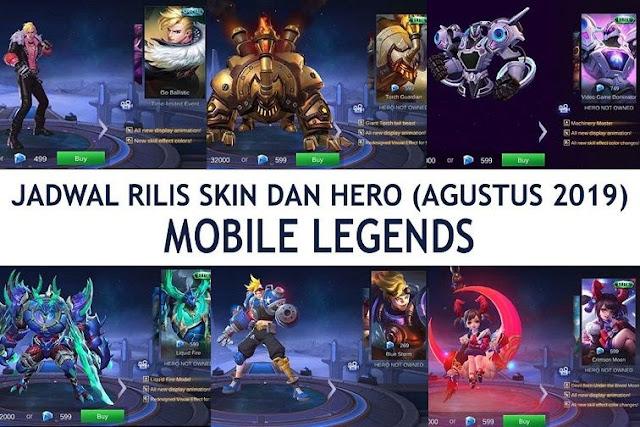 Jadwal Rilis Skin Dan Hero Baru Mobile Legends Bulan Agustus 2019