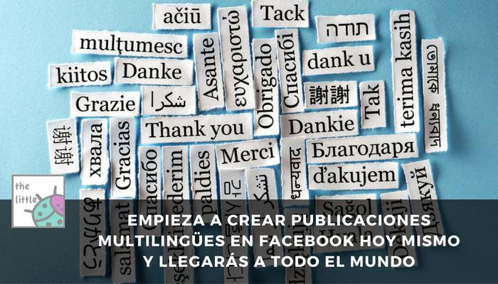 facebook publicar multilingue