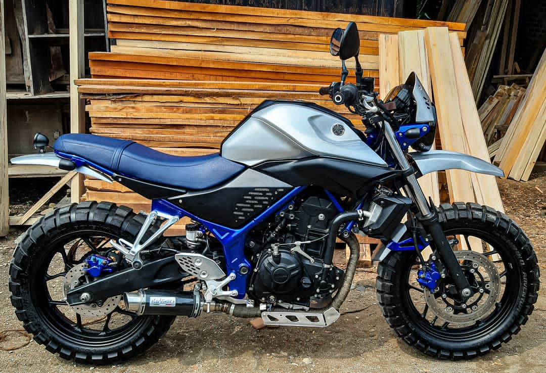 modifikasi yamaha mt25 scrambler