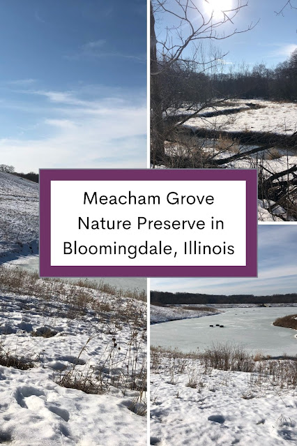 Rounding Maple Lake at Meacham Grove Nature Preserve in Bloomingdale, Illinois
