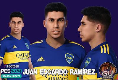 PES 2021 Faces Juan Edgardo Ramírez by Grdumbanda