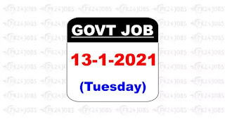 13th January 2021 govt jobs in Pakistan